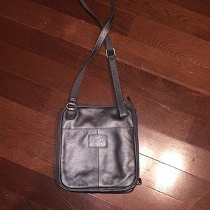 Pewter Fossil purse